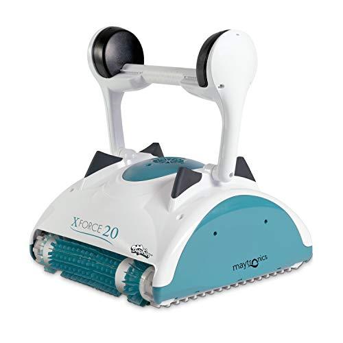 MAYTRONICS Dolphin X Force 20 Digital - Robot Elettrico Pulitore per Piscina Fino a 12 Mt - Doppia Filtrazione - Novita'