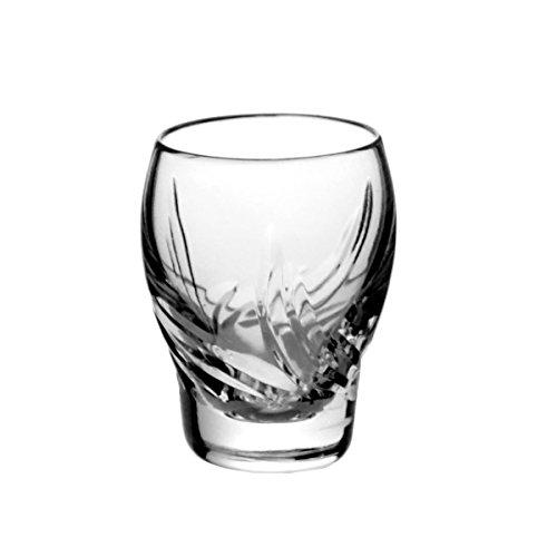 Crystaljulia 2762–Bicchieri Bicchierini da liquore, Piombo Cristallo, Modern, Levigato, 6Pezzi, in Set, 45ml