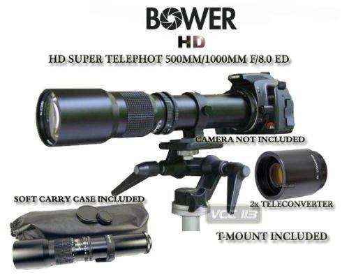 Bower 500mm/1000mm Telephoto Lens for Nikon D7000 D7100 D5200 D5000 D5100 D90 D80 D70 D60 D40 D40X D3S D300S D3000 D3200 D5200 D3X