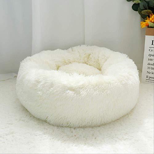 IWINO pluizige kalmerende hond bed lange pluche donut huisdier bed ronde ligstoel slaapzak kennel kat puppy bank bed huis