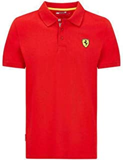Ferrari Men's Formula 1 2018 Authentic Men's Classic Red Polo (Large)