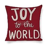 DKISEE Fundas de almohada decorativas de lino y algodón, fundas...