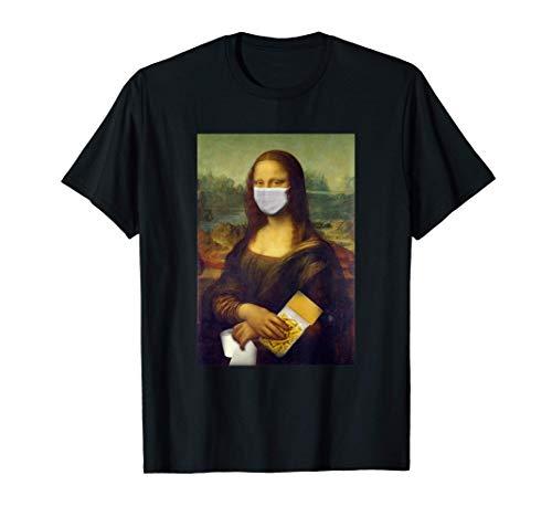 Mona Lisa mit Mundschutz Nudeln Klopapier Hamstereinkauf T-Shirt