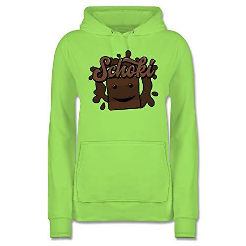 Karneval & Fasching - Milky & Schoki Schokolade - S - Limonengrün - JH001F_Hoodie_Damen - JH001F - Damen Hoodie und Kapuzenpullover für Frauen