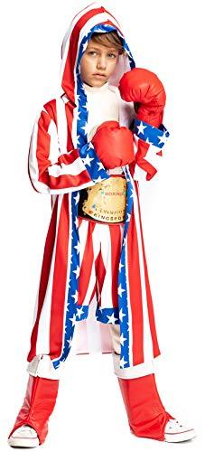 VENEZIANO Costume di Carnevale da Pugile Baby Vestito per Bambino Ragazzo 1-6 Anni Travestimento Halloween Cosplay Festa Party 54135 Taglia 4
