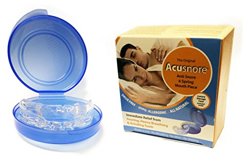 Acusnore Anti Snore 6 Spring Mouth-Piece Guard with Anti Bacterial Storage Case1 Units