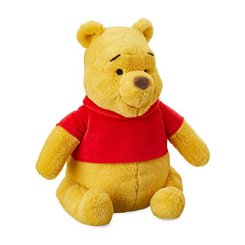 """Disney Store Winnie the Pooh Soft Toy, 30cm / 12"""", Cuddly Toy Made with Soft-Feel Fabric with Embroidered Details and Wearing Classic Red T-Shirt, Suitable for All Ages"""