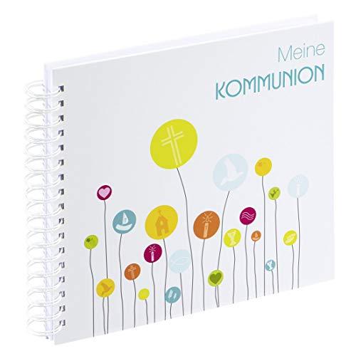 Hama Spiral-Album zur Kommunion, 28x24cm, (Kommunionalbum, 50 weiße, leere Seiten, für max. 100...