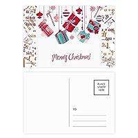 クリスマス・ギフト・スノーフレークの電球の松葉杖のパターン 公式ポストカードセットサンクスカード郵送側20個