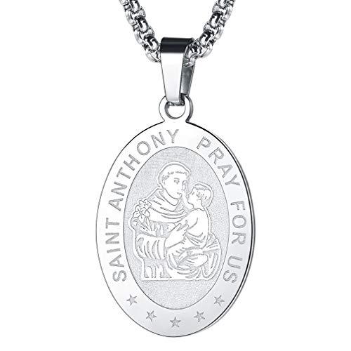 FaithHeart Schutzengel Wunschperle Oval Anhänger mit passender Halskette im Geschenkkarton Perle Kette Heiliger Schmuck für Damen