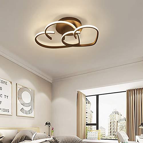 Lámpara de techo LED, moderna, sencilla, creativa, mando a distancia, regulable, diseño en forma de corazón, para salón, dormitorio, habitación de los niños de 15 ~ 20 ㎡