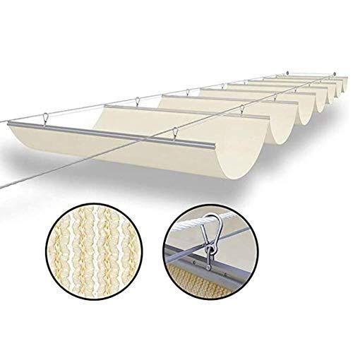 LH-RUG Toldo De Pérgola Retráctil Sombra De Vela Sombra De Onda Cubierta De Pérgola Protección UV Toldo De Techo Enrejado, Tamaño Personalizado