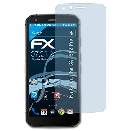Preisvergleich Produktbild atFolix Schutzfolie kompatibel mit Caterpillar CAT S62 Pro Folie,  ultraklare FX Displayschutzfolie (3X)