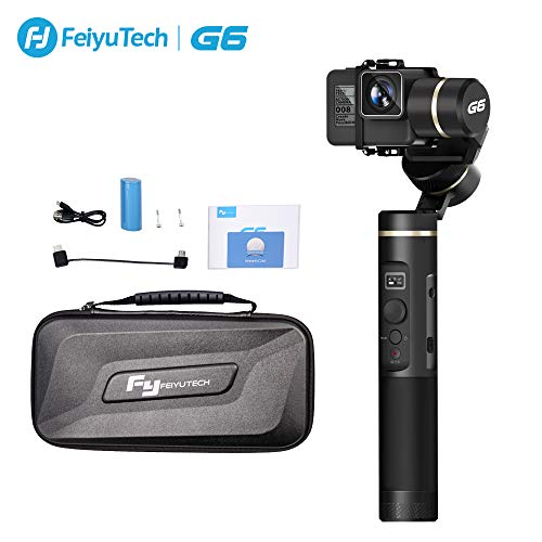 G6 3-Axis Handheld Camera Gimbal Stabilizer for GoPro Action Camera with WiFi Bluetooth OLED Screen for GoPro Hero 7 6 5 Sony RX0 Yi 4k Action Camera Splash-Proof
