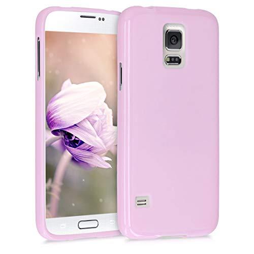 kwmobile Funda Compatible con Samsung Galaxy S5 / S5 Neo - Carcasa de TPU Silicona - Protector Trasero en Violeta Mate