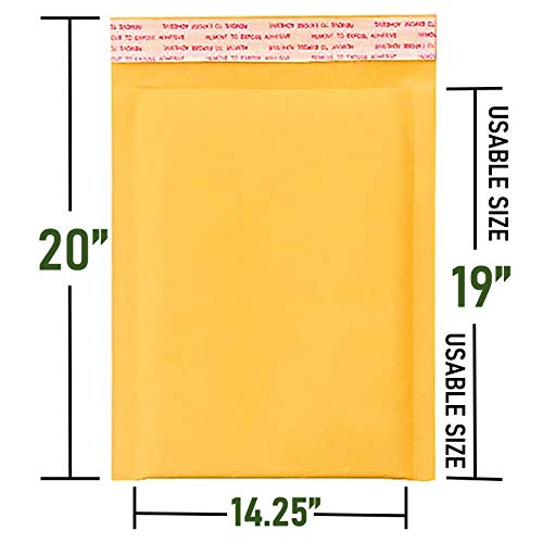 Sales4Less #7 Kraft Bubble Mailers 14.25X20 Inches Shipping Padded Envelopes Self Seal Waterproof Cushioned Mailer 10 Pack Photo #3