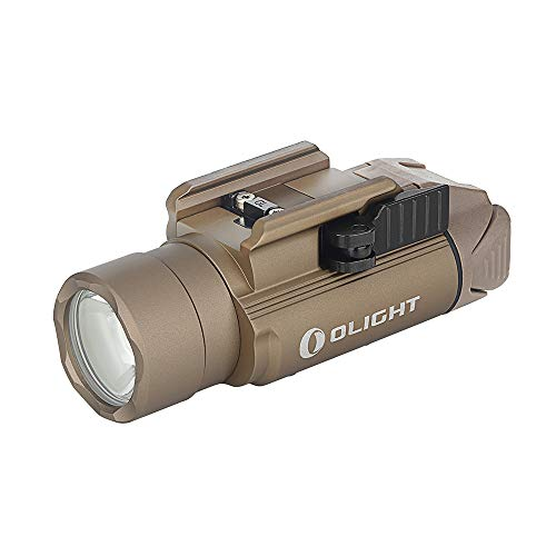 Olight® PL-PRO Valkyrie 1500 Lumens USB Rechargeable Weaponlight with NW LED, Compact Gunlight Powered by Built in Battery with MCC Included, Max. Throw 280 Meters Waterproof IPX6 (PL PRO Desert Tan)