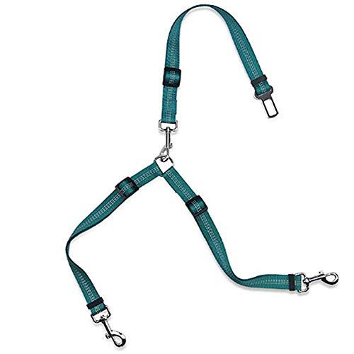 Zongha Cinturon Seguridad Perro Arnes Perro Coche Arnés de Seguridad para Perros Cinturón de Seguridad Ajustable para Perro Arnés de Perro en el Coche Green