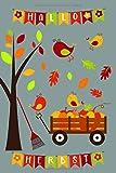 Herbst Notizbuch Kinder: Buntes A5 Herbstgarten-Merkheft mit Kürbissen, zum Malen, Zeichnen, Kritzeln für Kinder ab 5. Zum Notieren für Lehrer, Erzieher und Eltern zum Erntedank. Punktraster.