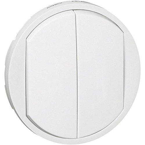 Legrand 068002 Enjoliveur Large Céliane pour Double Interrupteur, Va-et-vient ou Poussoir, Blanc