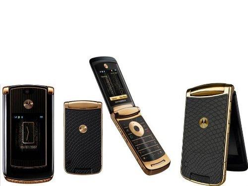 Motorola 2GB RAZR2V8Oro cuádruple Banda Desbloqueado gsm teléfono móvil RAZR2V8