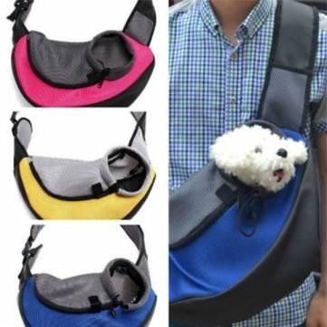 M huisdier hond kat drager mesh Sling rugzak reizen Tote schouder tas