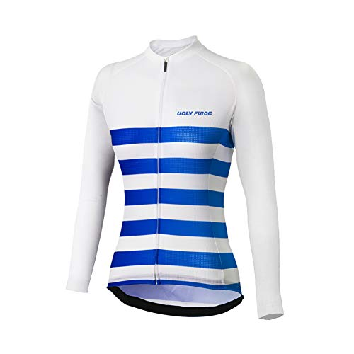 Uglyfrog Maillot vélo Femme Maillot de vélo Printemps Automne Respirant Maillot de Cyclisme Vélo à Manches Longues Femmes Running de Cyclisme à Manches Longues T-Shirt Fonctionnel