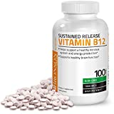 Vitamin B12 1000 Mcg (B12 Vitamin As Cyanocobalamin) Sustained Release Premium Non GMO Tablets - Supports Nervous System, Healthy Brain Function and Energy Production – 100 Count