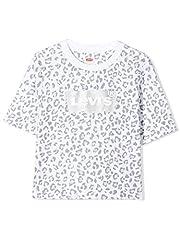 Camiseta Levi's Kids Animal Blanco de Manga Corta para Niña