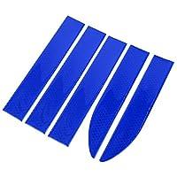 X AUTOHAUX 車の反射ステッカー 衝突防止 デカール サイドドアエッジバンパーガードトリム 5個 ブルー