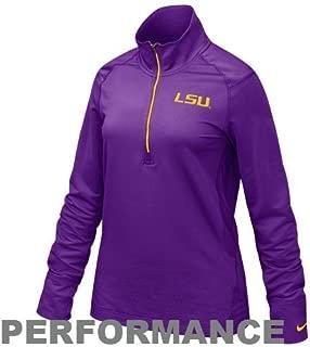Nike LSU Tigers Womens Dri-fit 1/4 Zip Top