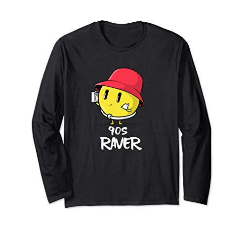 90s Rave Acid Man Smiley Face EDM Acid House Music Long Sleeve T-Shirt