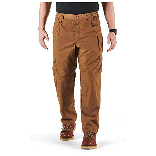 5.11 Tactical Men's Taclite Pro Lightweight Performance Pants, Cargo Pockets, Action Waistband, Style 74273, Battle Brown, 32W x 30L