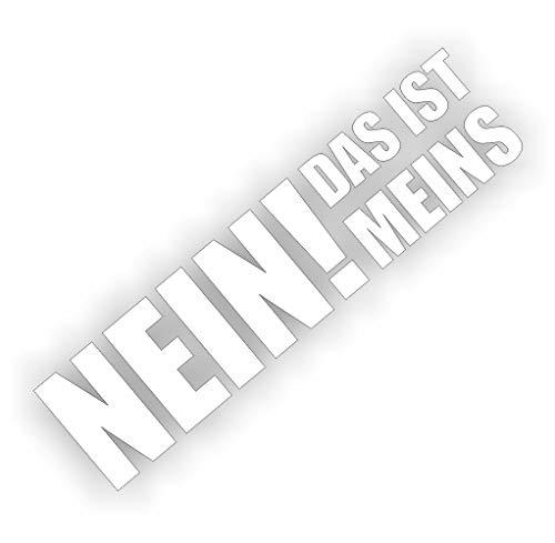 foliezentrum 1x Nee dat is meins 16 x 4 cm wit sticker Tuning 436 Shocker Auto JDM OEM Dub Decal Sticker Illest Dapper Oldschool Folie