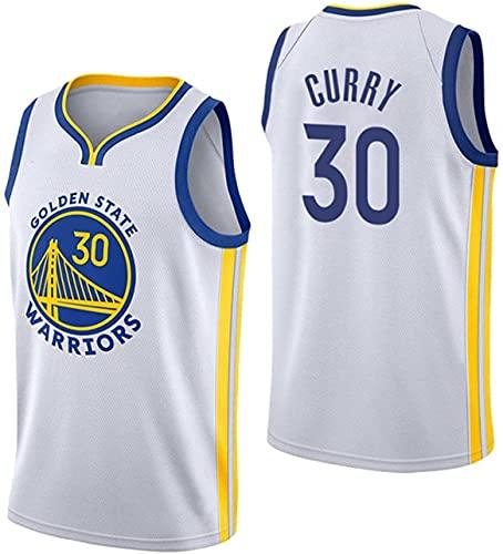 Golden State Warriors # 30 Camiseta de Baloncesto para Hombre de La NBA,Uniforme para Fanáticos del Baloncesto Stephen Curry Camiseta con Chaleco de Tela Transpirable Fresca(Size:/M,Color:G1)