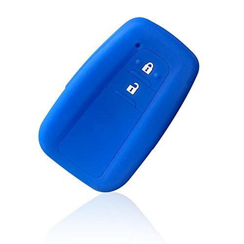 LFOTPP Cover Chiavi per C-HR, CHR Silicone Portachiavi, Guscio Proteggi Chiavi Auto Accessori (Blu)