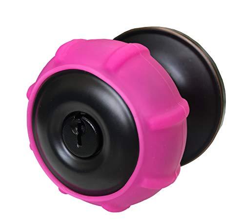 New Enjoy Cover - Silicone Door knob Grips Maximum Grip Nonslip Arthritis & Senior Living Aids Grippy Easy Open Fits All Door Knob Universal Size Decorative Lifetime Warranty! 4 Pack (Hot Pink)