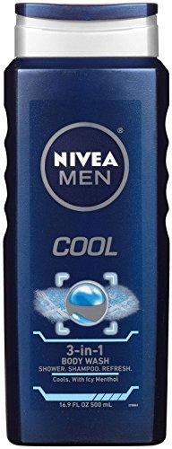 3-in-1 Body Wash, Men, Cool, 16.9 fl oz (500 ml) - Nivea