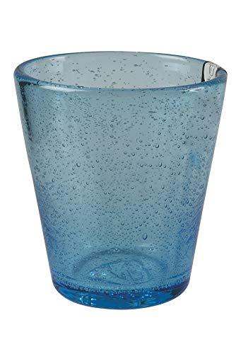 Villa d'Este Home Tivoli Cancun Satin Set Bicchieri Acqua, 6x330 ml, Blu (Celeste), 8x10 cm, 6 unità
