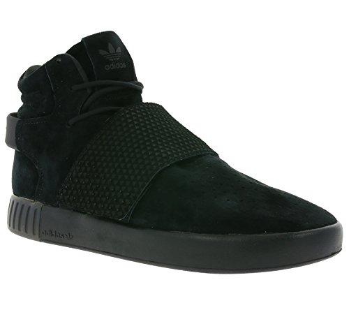 Adidas Tubular Invader Strap Men US 8 Black Sneakers