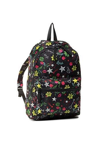 LIU JO Nylon Printed Backpack 2A0033 Black Lucky Pop