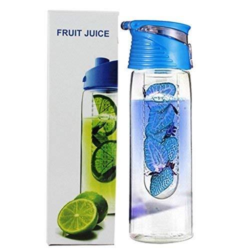 Willlly F Eshiat 800 ml Blue Casual Chic Wimport drinkfles met fruitei met flip deksel citroen percussiesap maken flesje BPA-vrij