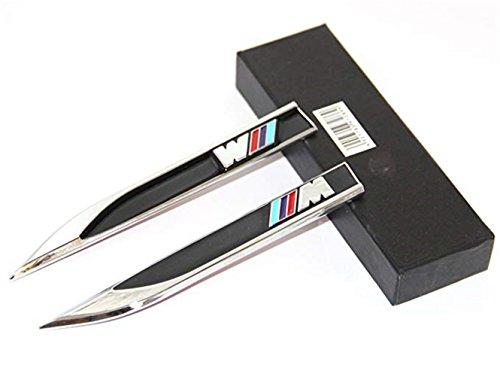 HongFeiLuA Yoaoo-OEM 2 Piezas OEM Cromo ///M Blade Emblems Insignia Lado 3D Logo para BMW X5 Series (2 Piezas Negro)