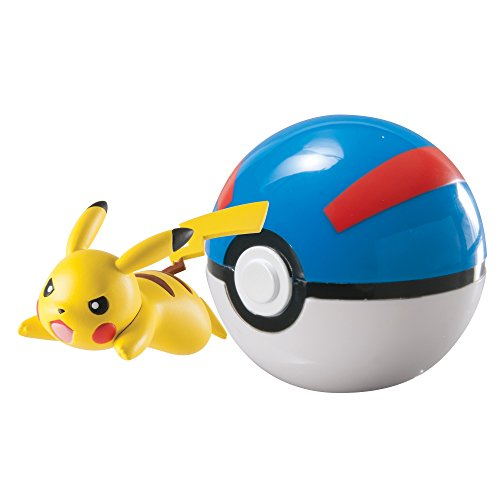 TOMY - T18869 - Coffret - Clip 'n' Carry - Super Ball - Pikachu