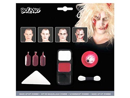 Alsino Zombie Make Up 45085 Schminke Kit Karneval Horror Set Kunstblut Schminkset Halloween Fasching