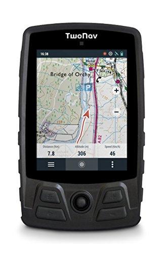 TwoNav - GPS Aventura pour la Randonnée Pédestre, l Alpinisme   GPS Sport, Piéton - Léger, Compacte, Robuste - Large Stockage Extensible - Écran de 3,7 pouces - Résistant Pluie et Chocs - Noir