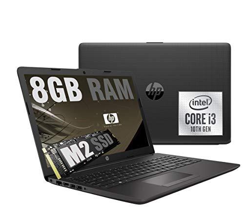 Notebook HP 250 G7 I3 Grey Portatile Display da 15.6   Cpu Intel core I3-1005G1 10Th Gen. 3,4Ghz  Ram 8Gb DDR4  SSD Nvme M2 256GB  VGA INTEL UHD  Hdmi DVD Wifi Bluetooth Windows 10 Home