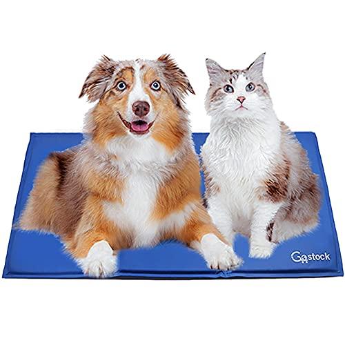 Tappetino Raffreddamento Cani, GoStock Tappetino Rinfrescante per Animali, gel non tossico sistema di auto raffreddamento perfetto per cani e gatti in estate(90*50cm)