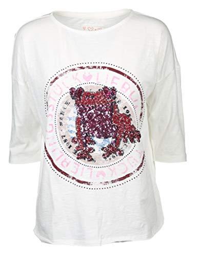 Lieblingsstück T-Shirt 'Charis' aus Baumwolle Ecru (110 Offwhite) L