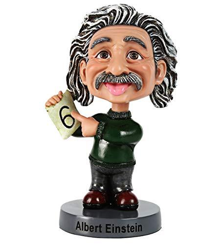 Ozuko Albert Einstein Wackelkopffigur für Auto-Armaturenbrett, Schreibtisch oder als Dekoration für zu Hause., grün, M